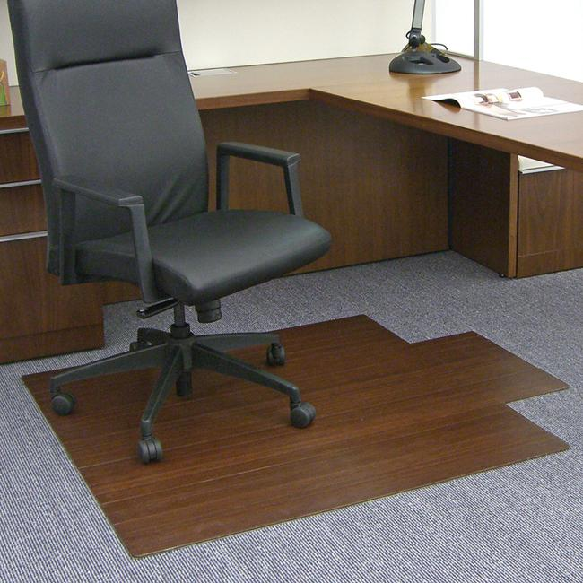 Eco Bamboo Standard Cherry Chair Mat with lip (44 x 52)