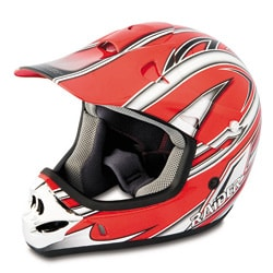 Unisex Youth Red Raider DOT-approved MX3 Lightweight ATV Helmet