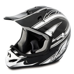 Raider MX 3 Silver/Black Thermoplastic Clear-coated Youth Helmet