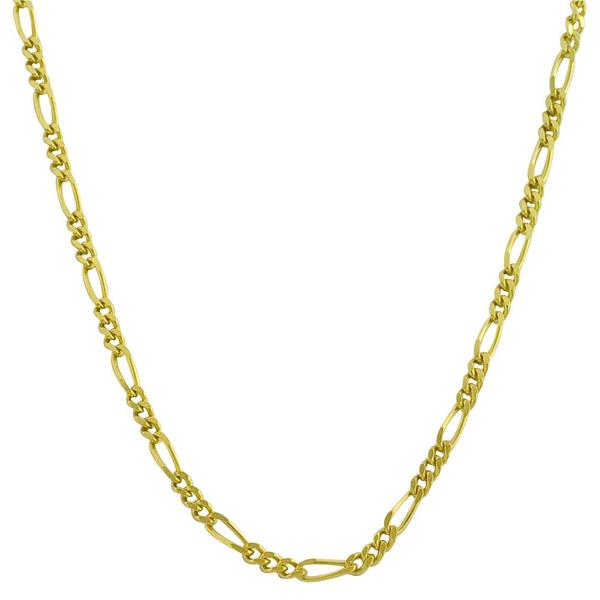 Fremada 14k Yellow Gold Figaro Necklace (16-20 inches)