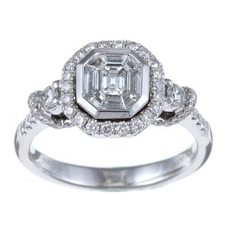 14k White Gold 1ct TDW Mosaic Diamond Ring (H-I, SI1)
