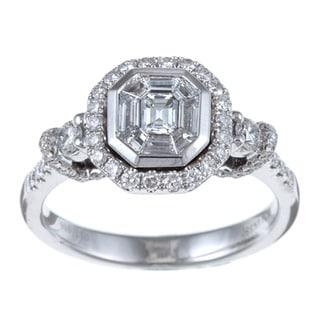 14k White Gold 1ct TDW Mosaic Diamond Ring (H-I, SI1)