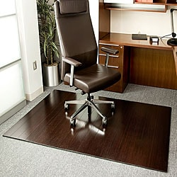 Eco Bamboo Deluxe Rectangular Cherry Chair Mat (72 x 48)