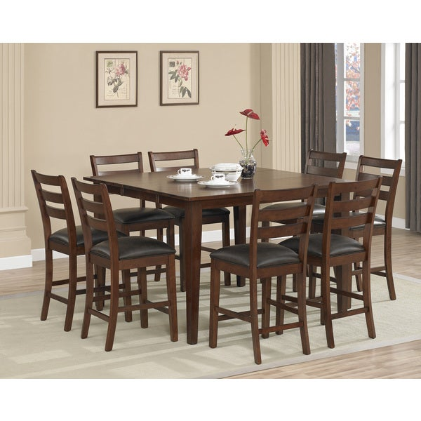 Dalton 9-piece Butterfly Leaf Counter-height Dining Set with Butterfly Leaf