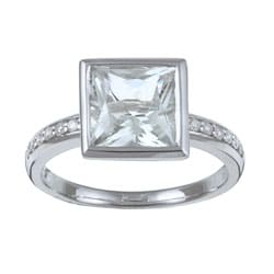 Kabella 10k White Gold Green Amethyst and 1/6ct TDW Diamond Ring (H-I, I2-I3)
