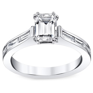 14k White Gold 7/8ct TDW Diamond Engagement Ring (H-I, VS1-VS2)