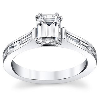 14k White Gold 1 2/5ct TDW Diamond Engagement Ring (H-I, VS1-VS2)