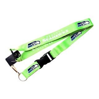Seattle Seahawks Green Clip Keychain Id Ticket Lanyard