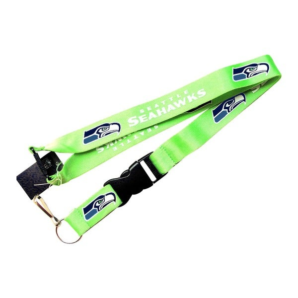Seattle Seahawks Green Clip Keychain Id Ticket Lanyard