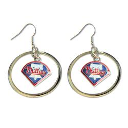 Philadelphia Phillies Logo Charm Hoop Earring Set