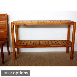 Teak Inlay KD Tung Oil Console Table (Thailand)