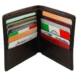 Castello Men's Torino Leather Hipster Wallet