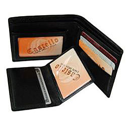 Castello Men's Torino Leather Bi-fold Wallet