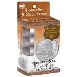 Quarter Size Coin Tube: 5 Count (Hardcover)