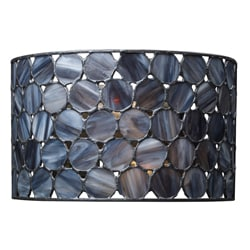 Indoor 2-light Black Wall Sconce