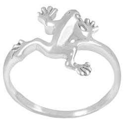 Tressa Sterling Silver Jumping Frog Ring