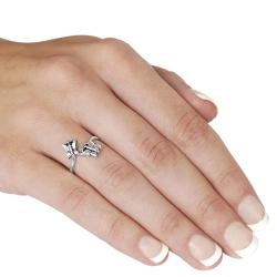 Tressa Sterling Silver Double Butterfly Bypass Ring