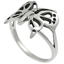 Tressa Highly Polished Sterling Silver Butterfly Ring