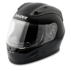 Raider Black Unisex Plastic Full Face Street Helmet DOT Approved