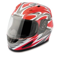 Raider Red Full Face Street Helmet