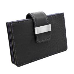 Wilouby Women's Violet Leather Credit Card Holder