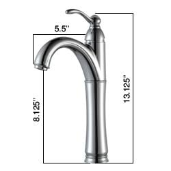 Kraus Rivera Bathroom Vessel Sink Faucet with Matching Pop-up Drain