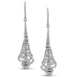Miadora 18k White Gold 2 1/5ct TDW Diamond Dangle Earrings (G-H, SI1-SI2)