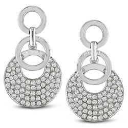 Miadora 18k White Gold 1 3/4ct TDW Diamond Earrings (G-H, SI1-SI2)
