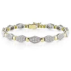 Miadora 18k Two-tone Gold 3 1/8ct TDW Diamond Bracelet (G-H, SI1-SI2)