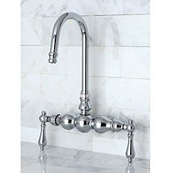 Deck-mount Chrome Clawfoot Tub Faucet