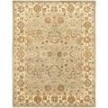 Handmade Heritage Oushak Light Green/Beige Wool Rug (12' x 18')