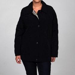 Nuage Women's Plus Size Faux Silk Jacket