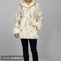 Nuage Women's Faux Fur Hooded Coat