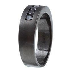 Victoria Kay Black Rhodium Men's 5/8ct TDW Black Diamond Band
