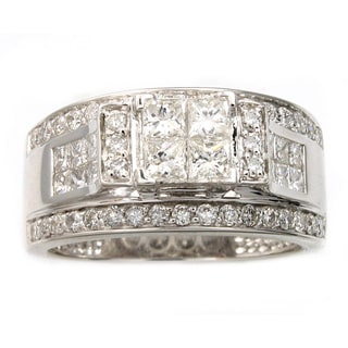 Beverly Hills Charm 14k White Gold 1 1/2ct TDW Certified Diamond Engagement Ring