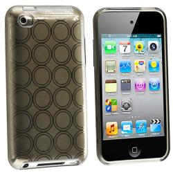 Clear Smoke Circle TPU Rubber Case for Apple iPod Touch