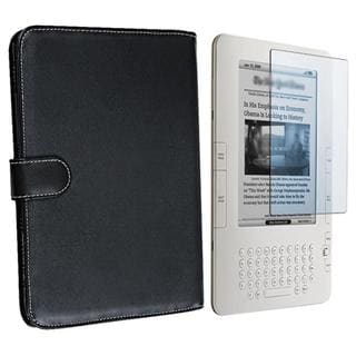 Leather Case/ Screen Protector for Amazon Kindle 2