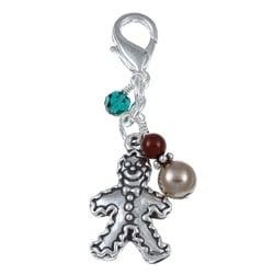 Fashion Forward Gingerbread Man Crystal Charm