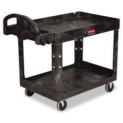 Rubbermaid Commercial Heavy-Duty Utility 2-Shelf Cart