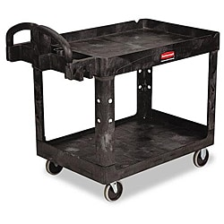 Rubbermaid Commercial Heavy-Duty Utility 2-Shelf Cart