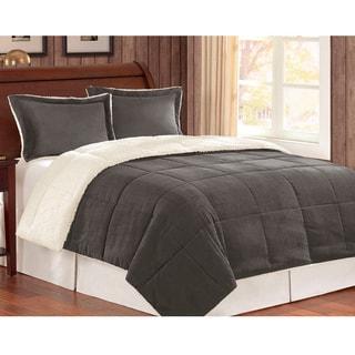 Corduroy/Berber Fleece Down Alternative 3-piece Comforter Set