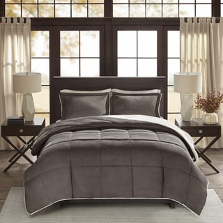 Corduroy/ Berber Fleece Down Alternative 3-piece Comforter Set