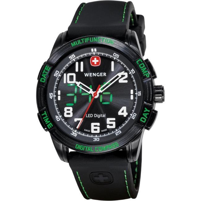 Wenger Men's LED Compass Watch