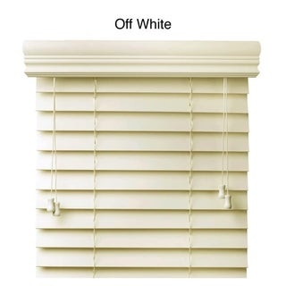Faux Wood 64-inch Blinds