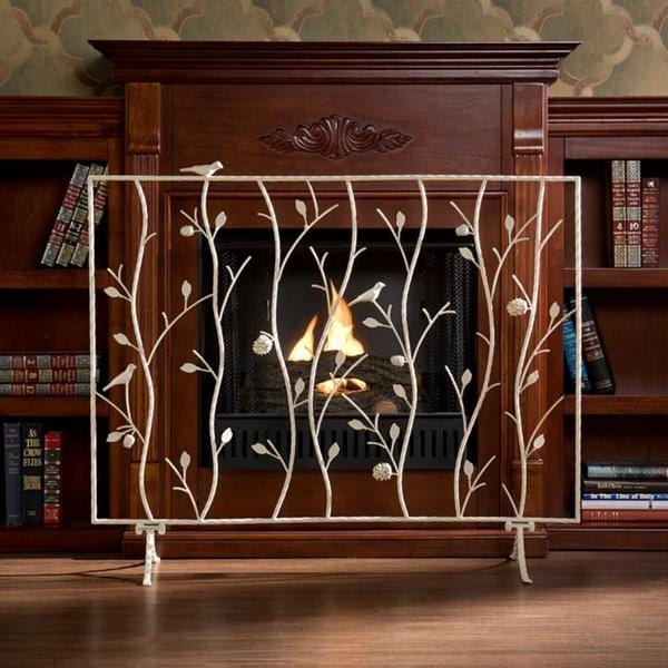 Harper Blvd Abbey Antique White Fireplace Screen