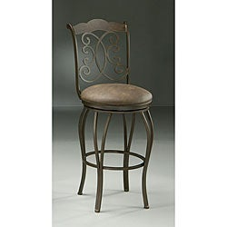 Athena 30-inch Florentine Coffee Swivel Bar Stool