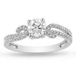 14k White Gold 3/4ct TDW Diamond Engagement Ring (G-H, I2-I3)