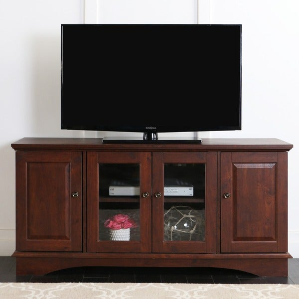52 in. Brown Wood TV Stand