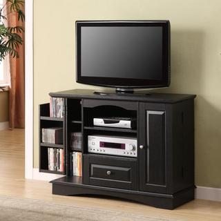Black Highboy 42-inch Wood TV Stand - Overstock™ Shopping - Great