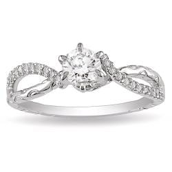 Miadora 14k White Gold 5/8ct TDW Diamond Ring (G-H, I1-I2)